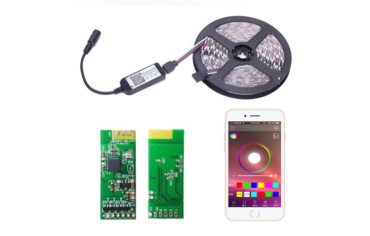 智能蓝牙手机APP灯带控制器方案