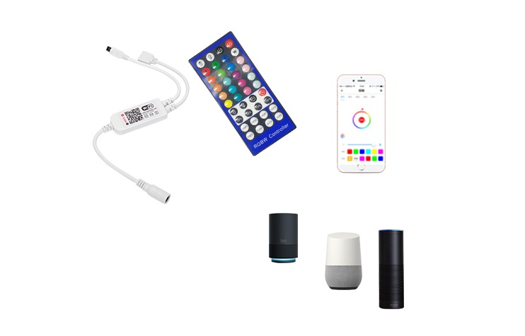 Wi-Fi+红外40键RGBW灯带控制器方案